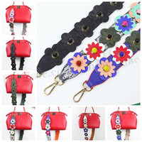 Wholesale Colorful Flowers Bag Strap Strap You Handbag Message Bag Strap Spring PU Leather Shoulder Bag Straps Floral Slingbag Strap Accessories D238