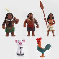 Wholesale Moana Princess Maui Waialik Heihei Action Figures Toy Action Figure Collection Model Toy set Gifts cm