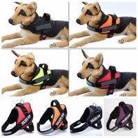 Wholesale Reflective Dog Power Harness Vest JULIUS K9 Medium Large Pet Dog Training Vest Nylon Chest Strap Traction Handle Dogs collars leashes F55