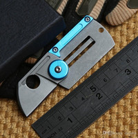 aluminum tags - C188 Dog Tag folding knife Cr18MoV blade Aluminum steel handle outdoor Survival camping hunting pocket knife EDC tools