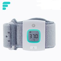 Wholesale FII Children Intelligent Wearable Electronic Thermometer Bluetooth Smart Baby Monitor Digital Skin Friendly Thermometer