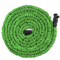 car washer 0 inch 0 inch Wholesale- EE support Car Washer 25 50 75 100FT Magic Flexible Expandable Anti-wear Water Hose With Valves (Without Nozzle Gun) Green XY01