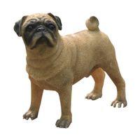 animal garden statues - Pug Dog Figurine resin dog animal statue handmade figurines decoration for home and garden cherismas gifts