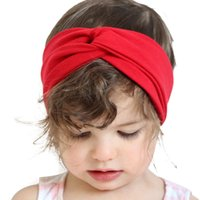 baby kids ware - Hot sale popular Cotton baby headband kids supplier colors solid children hair ware birthday party gifts for the newborn baby