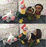 Wholesale Moana Plush Toys Maui pua hei plush toy doll Moana Figures Dolls Princess Moana Heihei Plush Doll D749