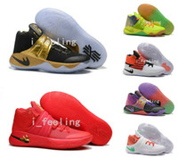 Wholesale 2016 Newest Colors Kyrie Irving Men Basketball Shoes Kyrie s Olympic BHM All Star Basketball Sneakers High Quality Shoes
