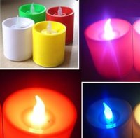 best christmas candle - LED Flickering Electronic Colorful Voice Control Candles Light Candle Christmas Holiday Decoration Your Best Choice