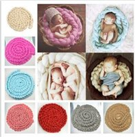 Wholesale Baby photography blanket Hand woven wool blanket plait double color