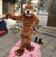 athletic costumes - Arrival Brown Cougar Mascot Cartoon EVA Costume Animal Fancy Dress Halloween Costumes