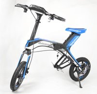 Wholesale Solarstars X1 Foldable Electric Bike Bluetooth Support Ah Lith on Batery City Version Cycling Portable Bicycle Blue
