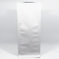 bellow seals - 11 cm Stand Up Matte White Aluminum Foil Bellows Pocket Heat Seal Accordion Pocket For Coffee Food Organ Packing