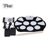 Wholesale Hotsell set New Professional Roll up Drum Pad Kit Silicon Foldable with Stick Portable Drum Electronic Drum USB Drum