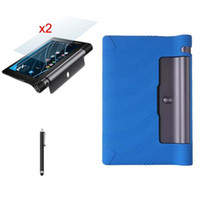 Wholesale Ultra Slim Luxury Silicon Soft Cover Smart Shell Silicone Case Matte Films Stylus For Lenovo Yoga Tab Tab3 F M L quot