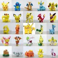 Wholesale 2017 Christmas gifts Pikachu Figures Anime Toys Mini Charmander Pikachu Eevee Action Figure Funko Pop Game Pikachu Go Model