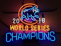 beer glass lot - 4pcs quot x14 quot Chicago Cubs World Series Champions Walking Bear Glass Tube BEER BAR NEON LIGHT WALL SIGN