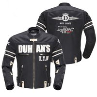 aluminum shirt - 2017 DUHAN Waterproof Motorcycle Riding Clothes Shoulder Armor Aluminum Motorcycle Jacket Drop Resistance Clothing Male Bicycle Jacket