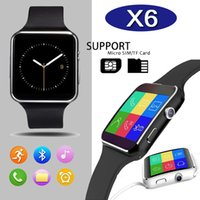 Wholesale Curved Screen X6 Smartwatch Smart Watch Bracelet Phone With SIM TF Card Slot With Camera For iPhone Samsung LG Sony All Android Mobile Phone