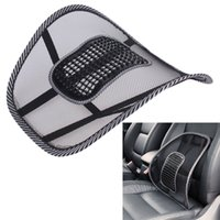 Universal Fitment Black Mesh Cloth Car Seat Cushion Lumbar Waist Cushion Back Support Reading Lumbar Oreiller