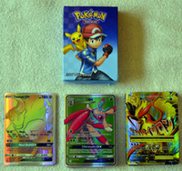 Wholesale 2017 The latest Poke Card Games60 set sun and moon GX Zhang EX Mega card children adult Poke English toy trade A1720