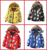ab candy - Boy winter jacket baby cartoon warm jacket hooded candy color years children s fashion cotton padded jacket AB