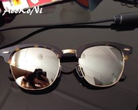 AOOKONI club Gafas de sol Classic Hombres Mujer Diseño de marca Gafas Gafas Oculos De Sol UV400 nuevas bisagras 49mm 51mm