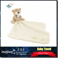baby blanket toys - Baby Hand Towel Infant Newbron Supper Soft Appease Towel Comfort Taggies Blanket Toys Bear Baby Bath Towel M