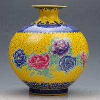 al por mayor porcelana qianlong-Colección china Vajilla pintada a mano colorida de la porcelana con la marca de Qianlong
