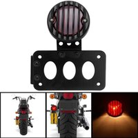 Wholesale Black Inches Billet Aluminum Axle Side Mount Bracket Integrated Tail Stop Light License Plate Lamp