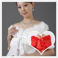 bag capes - 2016 New Fashion Lace Ribbon Wool Dress Bridal Accessories Bride Red Bag Shoulder Cape Bridal Wraps