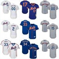 Wholesale 2017 New York Mets Jersey Mens Jerry Blevins Jacob deGrom Josh Edgin Jeurys Familia Sean Gilmartin Baseball Jerseys