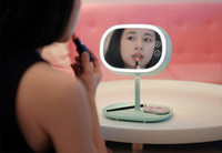 Wholesale High Quality Rechargable LED Makeup Mirror Table Mirror Lamp Table Stand Cosmetic Mirror For Make Up Gift for Girlfriend