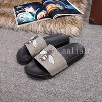 bee boys - 2017 mens and womens leather bee slide sandals boys and girls summer outdoor beach causal rubber sandals