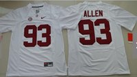 Wholesale Alabama Crimson Tide Jonathan Allen Red College jersey shirts size small S xl