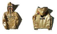 assassins creed patterns - Gold Bapa Shark Hoodie DoubleWear Bapa Hoodies Men Punk Hip Pop Outwear Jackets Causal Streetwear Assassins Creed Coats