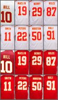 Los hombres 2017 cosieron los jerseys # 22 Marcus Peters # 87 Travis Kelce # 11 <b>Alex Smith</b> # 29 Eric Berry 10 Tyreek Hill # 50 Justin Houston Jerseys