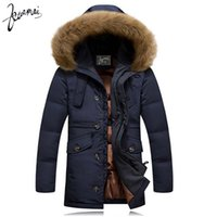 Wholesale KUAMAI Winter New Men Down Coat Brand Clothing With Fur Collar Casual Hooded Thick Warm Duck Down Jacket Men Anti Snow