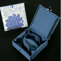 Jewelry Pouches,Bags Easter  Satin bracelet box, square shape, Chinese machine Embroidery Packaging box, 9*9*3cm, sold by lot(10pcs lot)