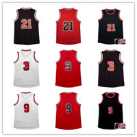 Wholesale Top quality WD RR JB Jerseys Classical Black Red White Basketball Jersey Men Sports wear embroidered Logos Cheap sports shirts