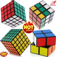 Wholesale SET OF Magic Cube Puzzle Set x2 x3 x4 x5 Brain Game Speed Twist Kids Toy Game Gift
