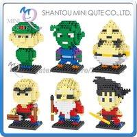 Wholesale DHL Mini Qute DR STAR anime cartoon dragon ball Son Goku plastic building block brick model Action Figure educational toy