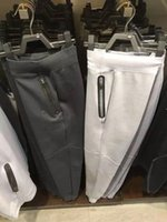 air worsted - New Branded air men black grey space cotton pant mens pants for sports men tech fleece trousers