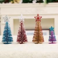 Wholesale Mini Christmas tree with white cedar desktop small Christmas tree delicate and lovely Christmas decorations desktop decoration