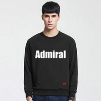 admiral fashion - 2016 High Quality Spring Autumn Men Sweatshirt Admiral Letter Printed Long Sleeve Round Neck Casual Pullovers tx1791
