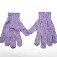Wholesale Shower Scrubber Exfoliating Back Scrub Exfoliating Skid resistance Body Massage Sponge Bath Gloves Wash Skin Spa Foam Bath Glove