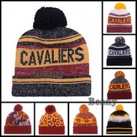 Wholesale Cheap Champion Team Beanie Lebron Basketball Pom Knit Hats Kyrie Irving Winter Wool Beanies For Men Women Caps