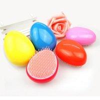 Cepillos para el cabello viajes Baratos-Cepillo en forma de cepillo Cepillo en forma de huevo Cepillo de pelo antiestático Herramientas de peluquería Cepillo de pelo de nylon para el viaje ZA2590