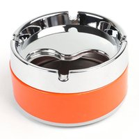 Wholesale Silver Tone Orange Detachable Rotatable Lid Cigarette Smoking Ashtray quot