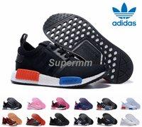 star - 2016 Adidas NMD Runner R1 Primeknit White OG Black Nice Kicks Men Women Running Shoes Sneakers Originals Classic Super Star Casual Shoes