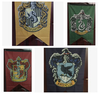 Wholesale Harry Potter Gryffindor Hufflepuff Slytherin Ravenclaw Flag Hogwarts College Flag x125cm Harry Potter HOUSE WALL KKA1103