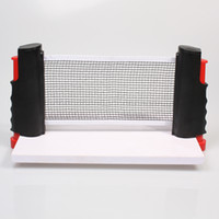 Wholesale Newest of Portable Retractable Telescopic Table Tennis Net Rack Replacement Ping Pong Kit Black Green H10533